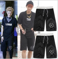 Wholesale Luhan Sehun Wolf - Free shipping exo Wolf 88 short loose casual short pants sport half pants couple pants exo-k exo-m print shorts KPOP LUHAN KRIS SEHUN 8color