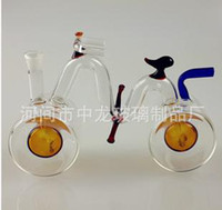 Acrylic water pipes of a classic double glass filter smoking...