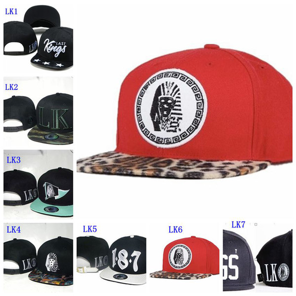 best selling EMS Free shipping New arrival Last Kings Snapback Hats many colors LK caps leopard last kings cap Adjustable hats Mixed Order High Quality