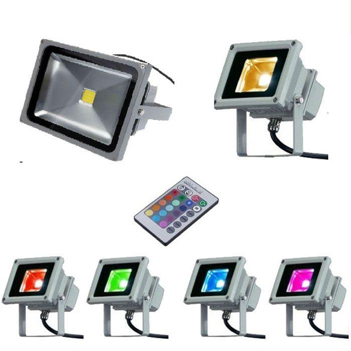 10W 20W 50W 100W RGB LED Floodlights Remote Color Changing Spotlights Waterproof