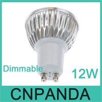 Wholesale dimmable mr16 led downlights - 50pcs 12W GU10 MR16 E27 GU5.3 B22 Led Bulb Light 110-240V Dimmable E27 E26 E14 GU5.3 MR16 Led downlights 4x3W
