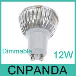Wholesale Led 12v Mr16 Downlights - 50pcs 12W GU10 MR16 E27 GU5.3 B22 Led Bulb Light 110-240V Dimmable E27 E26 E14 GU5.3 MR16 Led downlights 4x3W