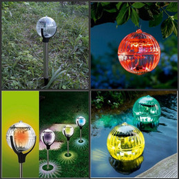 Wholesale White Ball Grown - New 3 in 1 Colorful Changed Floating Water LED Grow Light Solar Lawn Lamp Ball Design For Outdoor Party Garden Decoration