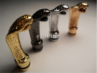 Wholesale Ego Snake Tips - EGO Drip Tips Metal Snake Style Electronic Cigarette EGO Mouthpiece Drip Tip Fashion EGO 510 King Cobra Head Drip Tips AAAA quality