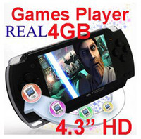 Wholesale Product Free Tv - Hot Products ! Game Console Newest Game Player,MP5 Player, 4.3Inch Screen, Real 4GB,FM+E-book+Camera+ Free 3000 Games & Free Shipping