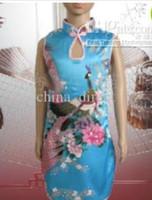 qipao vestido menina venda por atacado-Meninas cetim vestido chinês cheongsam vestidos de baile qipao vestido vestido de festa 20 pçs / lote