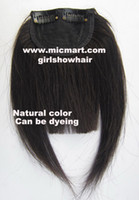 Wholesale Clip Bang Brazilian Hair - 1pc clip in on human hair bang fringe frinde hair pieces extension natural black