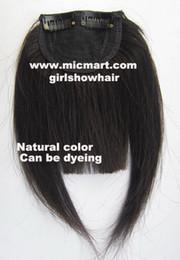 Wholesale Bang Clip Human - 1pc clip in on human hair bang fringe frinde hair pieces extension natural black