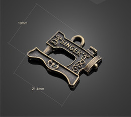 Wholesale Sewing Charms Wholesale - 13241 vintga sewing machine charms Necklace earrings Pendants DIY alloy Charms Jewelry Findings & Components