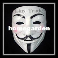 ücretsiz cosplay oyuncaklar toptan satış-Ücretsiz kargo Yeni V vendetta cadılar bayramı korku maskesi cosplay için masquerade maskeleri aksesuarları oyuncaklar noel partisi için # 8317