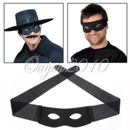 männer zorro maske Rabatt Black Zorro Held Bandit Augenmaske Blinder Maskerade Ball Karneval Halloween Party Dekoration Fancy Kleid Kostüm Herren