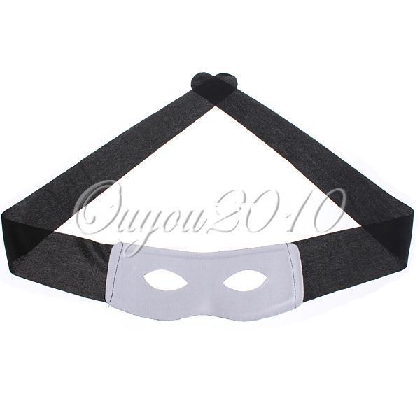 Svart Zorro Hero Bandit Eye Mask Blinder Masquerade Ball Karneval Halloween Party Decoration Fancy Dress Costume Mens