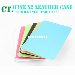 Wholesale Ifive Inch - Free shipping crystal protective shell crystal cover for 8.9 inch FNF ifive x2 transparent leather case