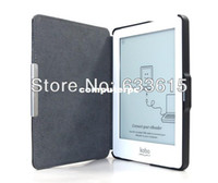 Wholesale Wholesale Ereader - Free Shipping Magnetic Auto Sleep Ultra slim Leather Case Cover for Kobo Glo 6inch eReader
