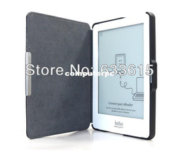 Wholesale Red Light Sleep - Free Shipping Magnetic Auto Sleep Ultra slim Leather Case Cover for Kobo Glo 6inch eReader