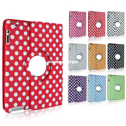 Wholesale Apple Ipad Covers Polka Dot - Freeshipping Polka Dot Wave Dot Smart Cover Leather Skin Magnetic wake up Sleep Cover Case for iPad 2 3 4 L0192386