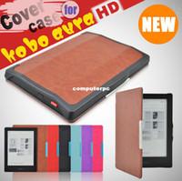 Wholesale Free Ereader - Leather Case for Kobo Aura HD Ereader E-book Cover Skin Free Shipping