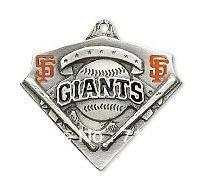 Wholesale Giants Jewelry - Free shipping black and orange enamel single-sided anti-silver San Francisco Giants Charm Jewelry
