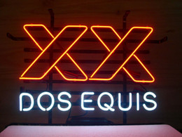 Wholesale Dos Equis Neon - NEW DOS EQUIS XX BEER REAL GLASS NEON LIGHT LAGER BAR PUB SIGN