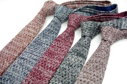 Wholesale Men S Knit Ties - New Classic Men's Tie Necktie NAVY solid slim skinny wedding ties men s buy ties knit neck tie neck ties 5 color
