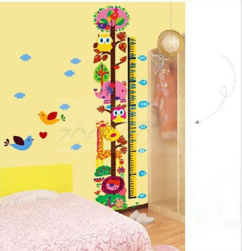 Colorful animals print wall sticker boys girls growth height chart for kids room home decor stickers home decor stickers wall from shenfa03 6 04 dhgate