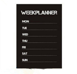Weekly Planner Calendar MEMO Chalkboard Blackboard Vinyl Wall Sticker Decal WHM ? partir de fabricateur