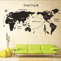DIY Trip World Map amovible Vinyl Quote Art Wall Sticker Decal murale Decor New