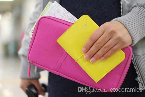 Nouveau Voyage Passeport ID Carte Titulaire Cosmétique Sac Couverture Portefeuille Sac À Main Organisateur cas pour iphone 4s 5s pour Samsung s3 s4 s5 8 couleurs