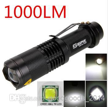 CREE XML T6 LED 1000Lumen 3 modo impermeable linterna antorcha Zoom ajustable Zoom flash luz ~ ~ a449