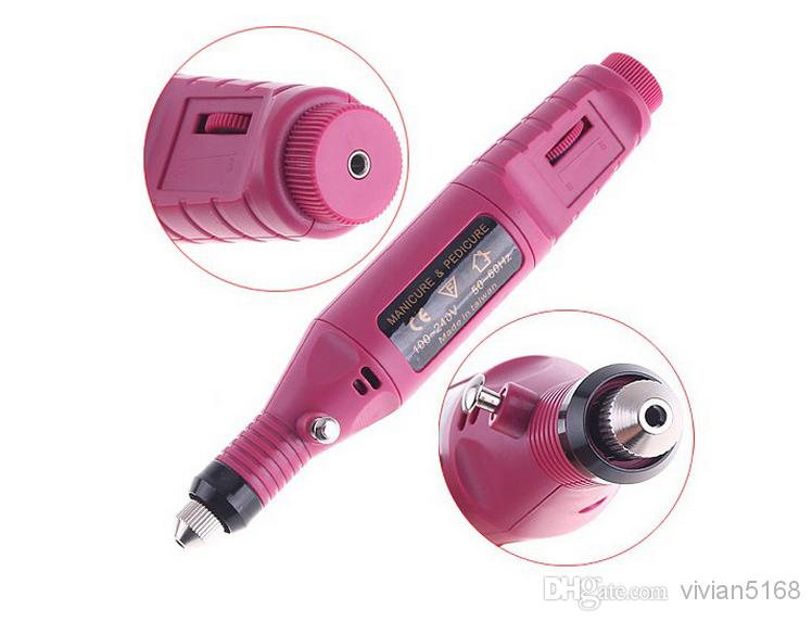 Portable Manicure Pedicure Set Pen Shape Electric Nail Drill Machine Art Salon Manicure File Polish Tool Manicure Kits+6 Bits