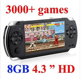 Wholesale Mp5 Game 4gb - 8GB 4.3 Inch PMP Handheld Game Player MP3 MP4 MP5 Player Video FM Camera Portable 4GB Game Console Free Shipping