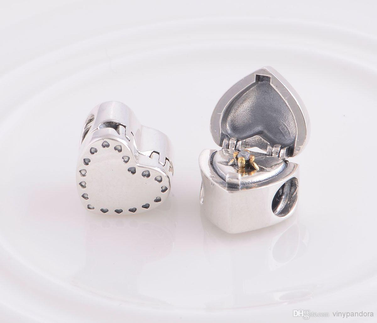 Jewelry Box For Pandora Charms: 2019 Authentic 925 Sterling Silver Marry Me Heart Shaped