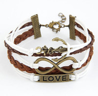Wholesale Cow Gift Wrap - Cow Leather Wrap Braided Bracelets Handmade Wristband Blessing Cute Design Couple Gift Cute Bracelet Free Shipping With Tracking Number 0068