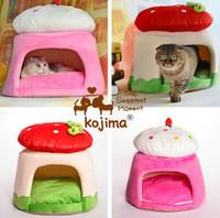Wholesale Mushroom Mat - 100089 Kojima Pet Products Supplies Dog Cushion House Teddy Puppy Cat Bed Sofa Mat Mushrooms Cake Bed Cute 1PC