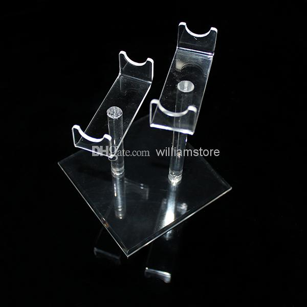 Acrylic e cig display frame showcase clear exhibit shelves standing show e cigarette holder rack for clearomizer ego battery mech mods DHL