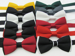 Wholesale Bow Tie For Sale - Free DHL Fedex shipping Hot Sale! Mens Bow Tie men's ties Wedding bowtie men's silk bow tie 24 colors for choice,110pcs lot