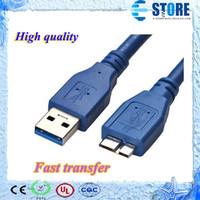 hdd externo de alta velocidade venda por atacado-Alta qualidade Super Speed Micro USB 3.0 Cabo De Dados para Samsung Note3 HDD Externo, frete grátis wu