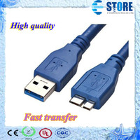 Wholesale Hdd Usb Cable - High quality Super Speed Micro USB 3.0 Data Cable for Samsung Note3 & External HDD, free shipping wu
