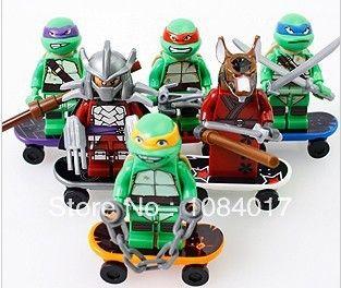 New 6Pcs Teenage Mutant Ninja Turtle TMNT 6pcs Lego Minifigure Toys Set UK