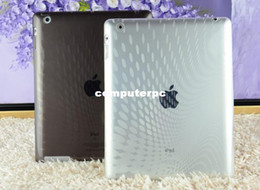 Wholesale Rain Free Crystal - Free shipping (2 pieces lot) silicon crystal transparent rain drop pattern case for Ipad 2,3,4 Hot Sale Plastic soft backcases