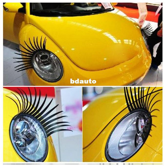 Fashion Car Eyelashes Pvc Logo Stickers Lashes Decal Accessories New