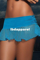 Wholesale Lowest Price Mini Skirt - Free shipping + Lowest price New sexy Espiral Fishnet mini Skirt ( Blue Pink Black) LC71008
