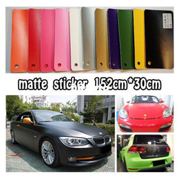 Wholesale Sticker Vinyl Sheet Size - Matte Vinyl Wrap Car Sticker   High Quality Wrapping Sheet   Size: 152x30cm with Air Release Drains car styling Free Shipping