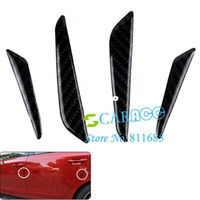 Côté Protector porte 4pcs voiture noire en fibre de carbone porte gardes Protection chants Autocollants 6606