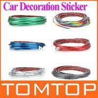 Wholesale Carbon Fiber Vinyl 5m - 5M Car Auto Decoration Sticker Thread, indoor pater,Car Interior Exterior Body Modify Decal 6 Colors wholesale