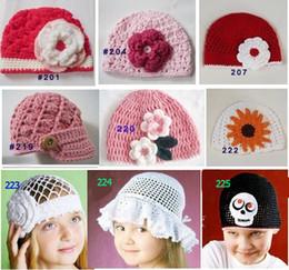 Wholesale Handmade Crochet Hats For Toddler - HOT sale!Handmade baby crochet beanies caps hats,boy girl beanies, knitting cap hat for kids infants toddler Children,many styes option