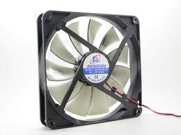 Wholesale Quiet Fans - Free Shipping Best silent quiet 140mm pc case cooling fans 14cm DC 12V 4D plug computer coolers