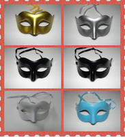 Wholesale Low Price Venetian Masks - Lowest Prices Mens Mask Halloween Masquerade Masks Mardi Gras Venetian Dance Party Face The Mask Mixed Color