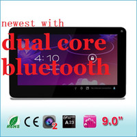 android tablette kostenlos 3g großhandel-Bluetooth-Bildschirm Kostenloser Versand Android-Tablet-PC Cortex A8 Dual-Kamera-Android 4.2 9-Zoll-A23-Tablet-PC