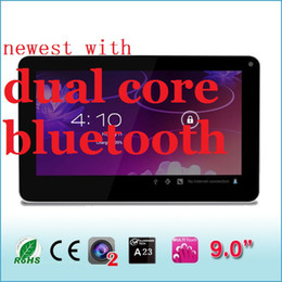 Wholesale A8 Tablet - Bluetooth screen Free shipping android tablet pc Cortex A8 dual camera android 4.2 9 inch A23 tablet pc